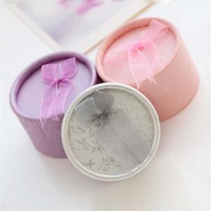 bvOjS Exquisite Silber Schmuck Verpackung Schmetterling box Bogen kleine runde Dose Ohrring-Ring Boxgift