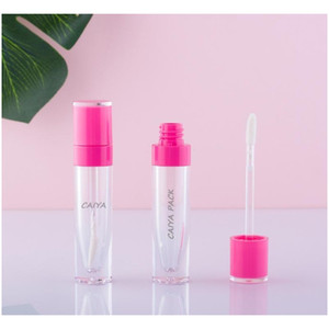 Wholesale High Quality 6ml Cosmetic Pink Purple White Black Clear Empty Lipgloss Tubes Lip Gloss jllUVT sinabag