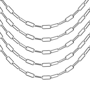 DIY Jewelry Making Big Thick Chain 7mm Width Stainless Steel Cable Chains Findings Supplies Wholesale Lots Bulk 100cm pc
