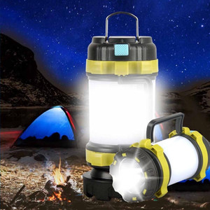 LED Camping Light USB Rechargeable Dimmable Portable Spotlight Work Light Waterproof Searchlight Emergency Torch