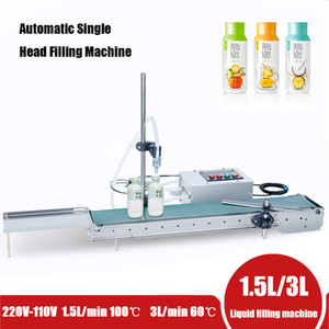 DHL Free! Automatic Electrical Conveyor Belt Single Head Liquid Filler Can Sense High Precision Heat Resistance Filling Machine