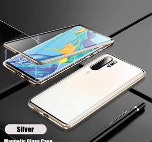 Magnetic Absorption Metal Phone Case For Huawei P30 P40 Pro Lite Cover Double Sided Tempered Glass Huawe jllFHn book2005