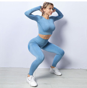 Designer Yoga Sports wear Tracksuits Fitness 2pcs full Leggings pant 2 Piece Set outdoor outfits shirts Gymshark womans outdoor gym Clothing