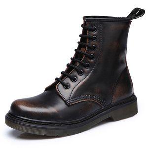 Men Boots Spring Ankle Boots Shoes Winter Genuine Leather Shoes Man Punk Casual Riding Equestr Botas Hombre Plus Size 46 201126