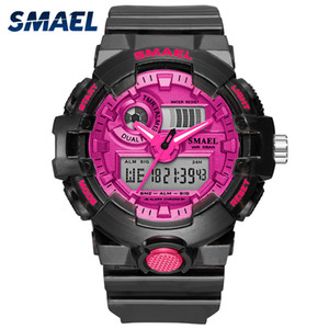 NEW SMAEL Women's and Men's Watches Sport Watch Clock Couple Digital Wrist Watch 8023 Waterproof erkek saat LED Clock Gift 201114