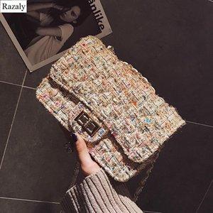 lana di alta qualità Razaly progettista di marca tessere piccole cartelle metallo catena borse frizione crossbody portamonete bolsos mujer messaggero