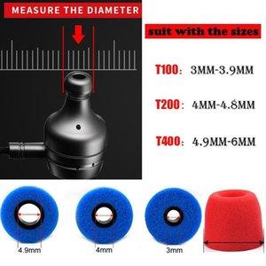 T400(4.9mm Hole) Memory Foam Earphone Caps Cover In Ear Eartips Sponge Tips Ear Pads Earbuds Cups For Headset Headphone bbycKM