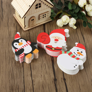 NewCute 50 Claus Pcs Lot Santa Lovely Decorative Pattern Paper Cards DIY Invitations Lollipop Gift Package Decor Christmas Gifts