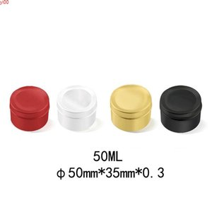 50ml Colorful Cream Jar Metal Aluminum Round Eyeshadow Tin Cans Box Empty Travel Accessories Refillable Candle 50pcs lotqualtity