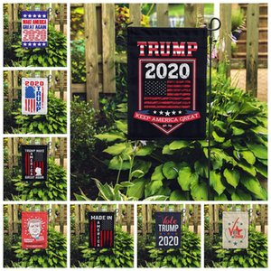 30*45CM Trump Garden Flag New Design Amercia President Campaign Banners Make America Great Again Polyester Flags Banners BEE2516