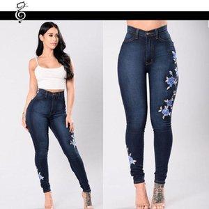Jegging Femme New High Waist Skinny Jeans Woman Embroidered Spodnie Damskie Jeansy Z Wysokim Stanem Denim Jeans Trousers Women