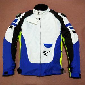 Nouveau costume de course pour hommes de jersey de moto Moto Port de vêtements anti-chute Veste de voiture respirante à vent respirante et blanche