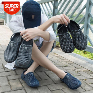 Newbeads Men's Crocks Summer Hole Shoes Garden Shoes Crocse Beach Casual Water Flat Sandals Slippers Outdodr Breathable #lC0f