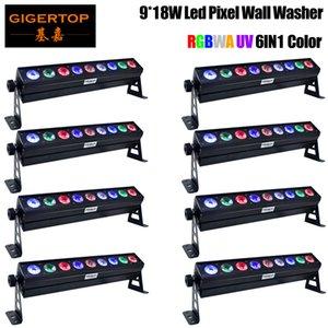 Ultraviyole LED Duvar Boyama Lambası Mor LED Bar 9x18W UV Parti Disco Club Light İçin Manzara Yıkama Duvar Sahne Efekt Aydınlatma