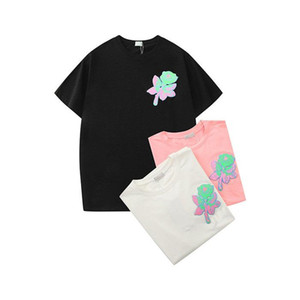 21ss News Tops Clothings Marque Femme Designer T shirts T-shirts T-shirts Fashion Rose Broderie Courtes Sleeve Lady Tees Casual Vêtements