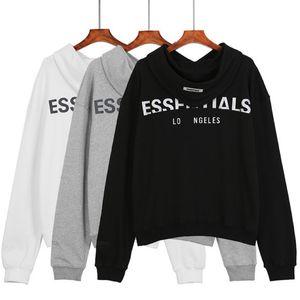 Plus récent FOG3M Essentials réfléchissant LAgles Hommes capuche à capuche double ligne Pull à manches longues Streetwear unisexe Casual Sweat S-XL