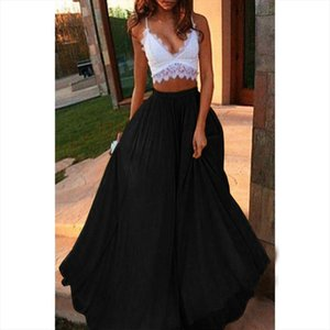 Womens Fashion Skirts Spring Summer Casual Solid Color Midi Skirt High Waist Plus Size Long Skirt Hot Sale Long Skirts 626