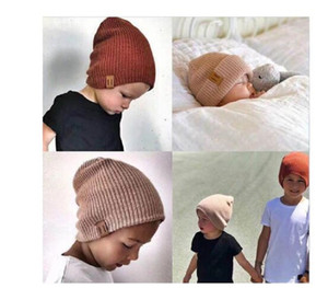 Baby Hat Kids Newborn Knitted Cap Crochet Solid Children Beanies Boys Girls Hats Headwear Toddler Kids Caps Accessories