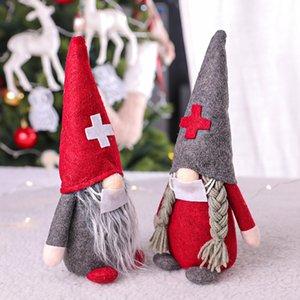 الحجر الصحي عيد الميلاد الدمى الديكور الحلي هدية شخصية عائلية اسم حلية جائحة عيد الميلاد لعبة تزيين GGB2429