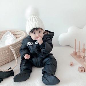 Neue Baby-Jungen-Spielanzug Beidseitige Winter-Jumpsuits Kleidung Kinder für Kinder Boy Down verdicken warme Overalls