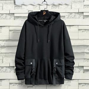 망 가을 겨울 새로운 도착 Hoodies Sweatshirts Plus Velvet Thickening 느슨한 후드 스웨터 대형 남성 탑스