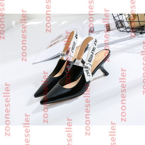 A5 Europe and America, summer women's shoes, English letter band,back space, , fashion, single shoe, pointed head, cat heel, sandals