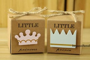 New Kraft Paper Gift Box Candy Boxes Baby Shower Decorations Wedding Favors and Gifts Box for Guests 2*2*2inch Party Supplies