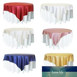 Tessuto della decorazione raso 180x180cm Tovaglia Tavolo Table Cover Overlay articoli per la tavola di copertura Ristorante Banchetto hotel Festa di nozze