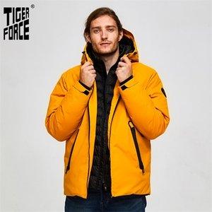 Tiger Force Oversize Winter Ski Sport para homens impermeável neve falsa dois jaqueta com capuz masculino engrossar casaco 201224