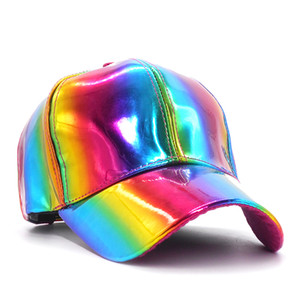 Luxus Lizenzierte für Rainbow Farbwechsel Baseballmützen für Männer zurück in die Zukunft Props Bigbang G-Dragon beiläufige Frauen Hut 201026