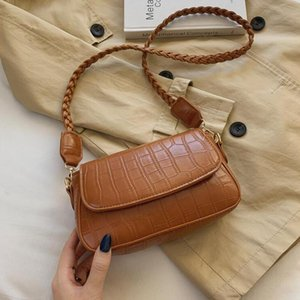 Women Bags Strap Shoulder Bag Popular Small PU Leather Crossbody For Lady Designer Pattern Stone Braided Purses And Handbags Mwqfj