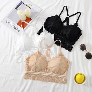 AOSSVIAO Sexy Lace Bralette Tube Tops Bandeau Summer Women Lace Bra Tanks Crop Tops Bandeau Girl Vest Underwear 2020 Crop Top #Pm8R