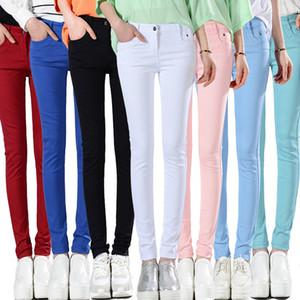 FSDKFAA koreanische Art Plus Size Sommer-Hosen Frauen dünne Süßigkeit färbt Bleistift-Hosen-beiläufige dünne Hosen Stretch Schwarz Leggings 1017