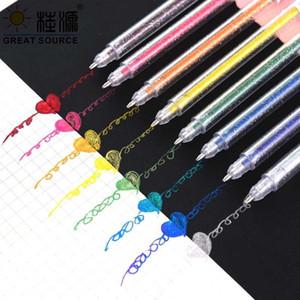 Metal Glitter Highlighter Pen Metalic Colorful Ink Pen DIY 8 Colors Per Set ( 15 Sets)1