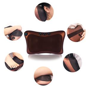 Head Neck Massager Car Home Cervical Shiatsu Massage Neck Back Waist Body Electric Multifunctional Massage Pillow CushionRabin