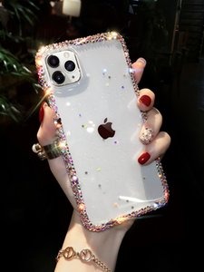 IPhone12  12Pro Mobile Phone Case Female Transparent Glitter Iphone11 All-inclusive Creative Rhinestone Xsmax Silicone Pro Case Applicable