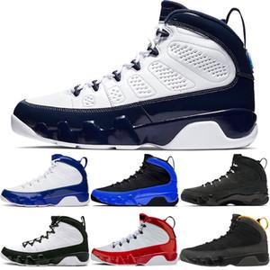 Fashion 9 Chaussures de basket-ball de Mens de la Ccomme 9S Gym Rouge Université Or Racer Bleu Anthracite Bred Hommes Formateurs Sports Baskets