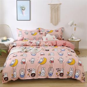 4pcs Cute Bedding Set Luxury Modern Fruit Cartoons Queen Size Sheets Adult Children Duvet Quilt Cover Comforter Kawaii Boys Girl LJ201127