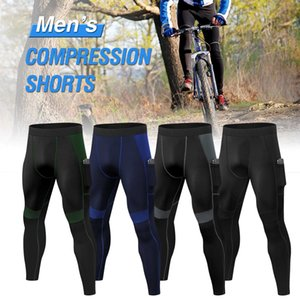 3pcs Pack Männer hohe Taillen-Sport-Yoga-Hosen Quick Dry Sport Hose Fitness Hosen Workout mit Tasche