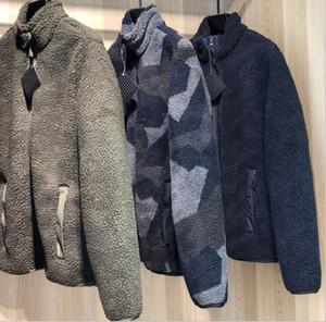 uomini nuovi Polar Fleece Zipper moda giacche antivento esterna outwear S / 2xL nave libera # 7030