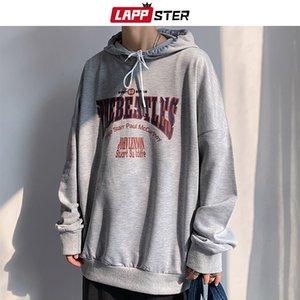 LAPPSTER Men Harajuku Streetwear Sweatshirts Hooded Hoodies 2020 Mens Korean Oversized Hip Hop Sweatshirt Vintage Casual Hoodie C1011