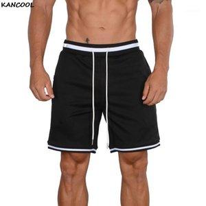 Kancool 2021 shorts de verão homens moda respirável masculino casual shorts confortáveis plus tamanho fitness muss bodybuilding1