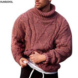 KANCOOL 2020 Winter-Männer beiläufige weiche und bequeme Pullover Mantel starke warme handgestrickte Pullover Männer