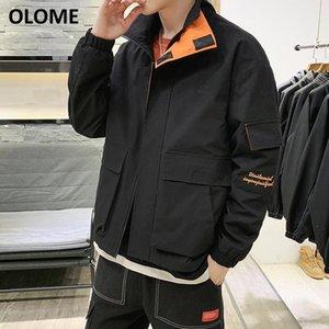 Мужские куртки мужская куртка 2021 весенняя и осень Корейский верситель тенденции молодых студентов набор сплошных цветных повседневных мужчин.