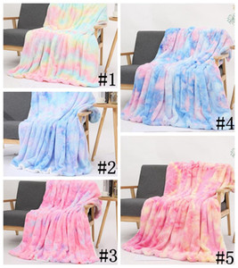Flannel Blankets Warm Blanket Kids Adult Square Quilt Plush Double Thickening Blanket Winter Couch Blanket Sofa Cover Blankets OWB2140