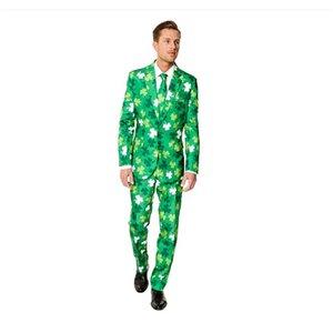 Slim Fit Men Suitmeister Solid Color Suit Jacket Blazer Vest + Pants Suits