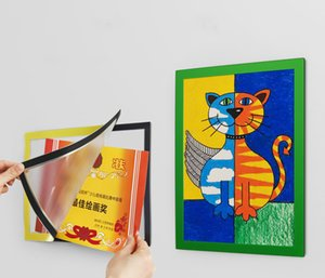 A3 A4 Colorful PVC Frame Wall Mounted Display Frosting Surface Picture Frame Sticker