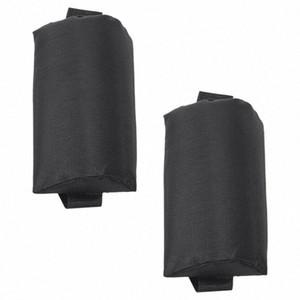 2X pieghevole Sling Lounge Chairs Black Head cuscino Per esterni Sdraio da spiaggia pBjY #