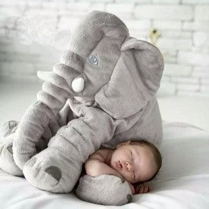 40 60cm Infant Plush Elephant Soft Appease Elephant Playmate Calm Doll Baby Toy Pillow Plush Toys Stuffed Doll