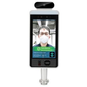 """Card Reader 100% nuovo 8"""" Allarme smart AI Face Recognition corpo umano Termperature termometro Porta di sicurezza di controllo di accesso terminale Wi-Fi"""